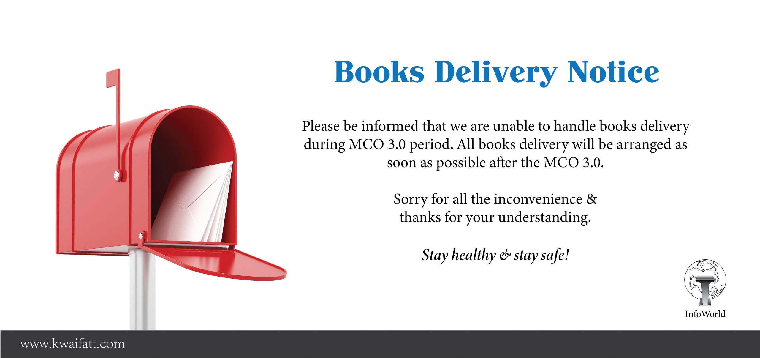 Books delivery notice